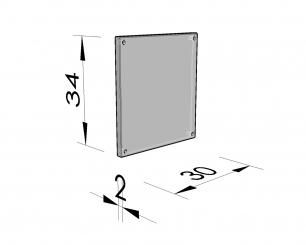 Plaque de fermeture cellule quadrangulaire 47