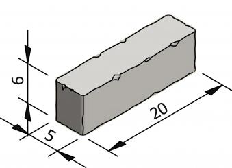 Rustico 20x5 format waal