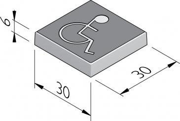 Dalles à symbole 30x30
