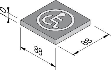 Dalles à symbole 88x88