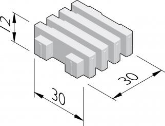 Dalle gazon 30x30 à motif ligne
